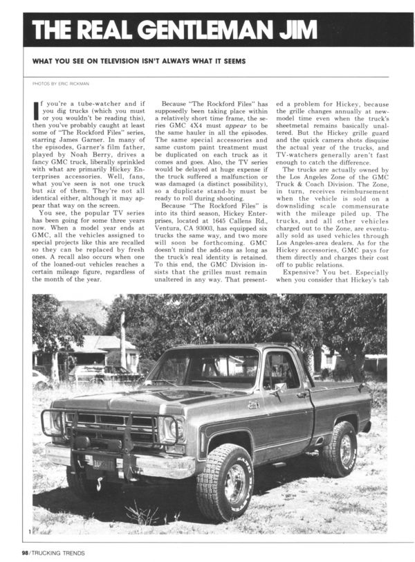 Rockford Files Gmc Pickup Truck Jim Suva S Rockford