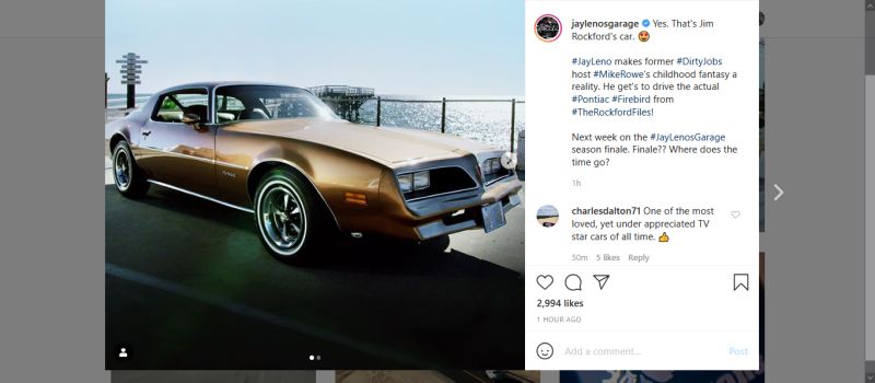 Screenshot_2020-07-03 Jay Leno's Garage ( jaylenosgarage) • Instagram photos and videos